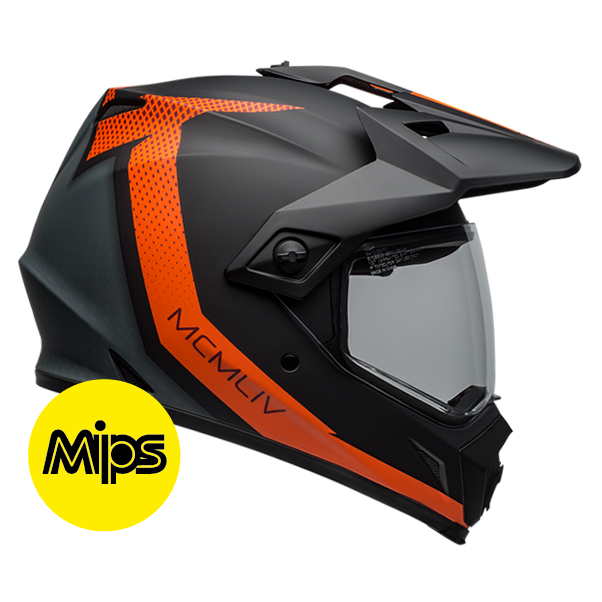 MX-9 ADV SWITCHBACK MATTE BLACK/FLO ORANGE MIPS